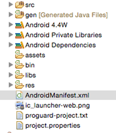 Check the Manifest file of your app