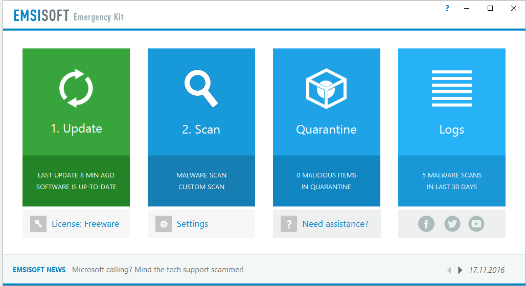 Emsisoft Emergency Kit (EEK)- spyware removal tool