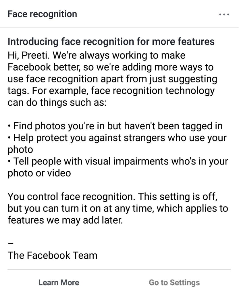 Facebook Face Recognition intro