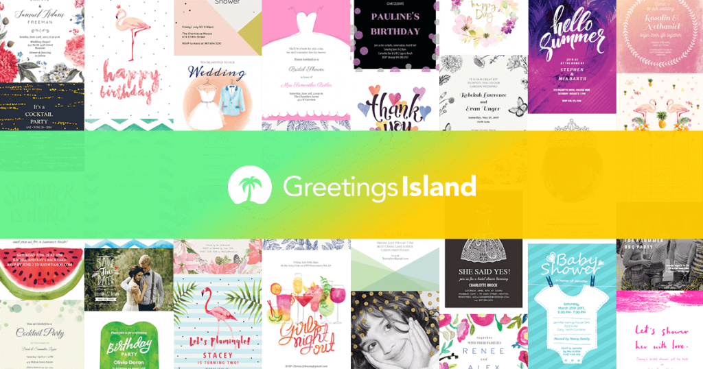 whether you want to create a wedding invitation or easter card greeting island can do everything that comes to designing online greeting and invitation - Card Making Websites