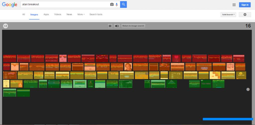 Make Google into an Atari Breakout