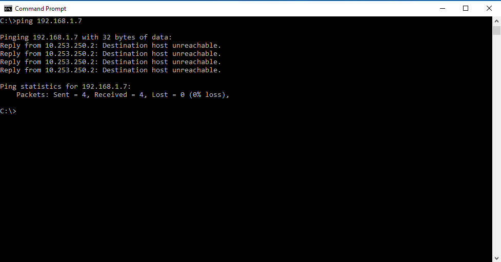 Ping an unresponsive IP address