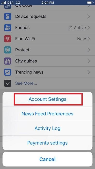 Remove Third-party Apps from Facebook App on your iPhone 1