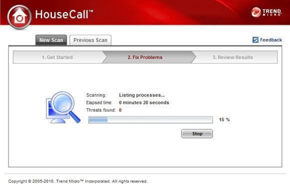 Trend Micro HouseCall-anit spyware
