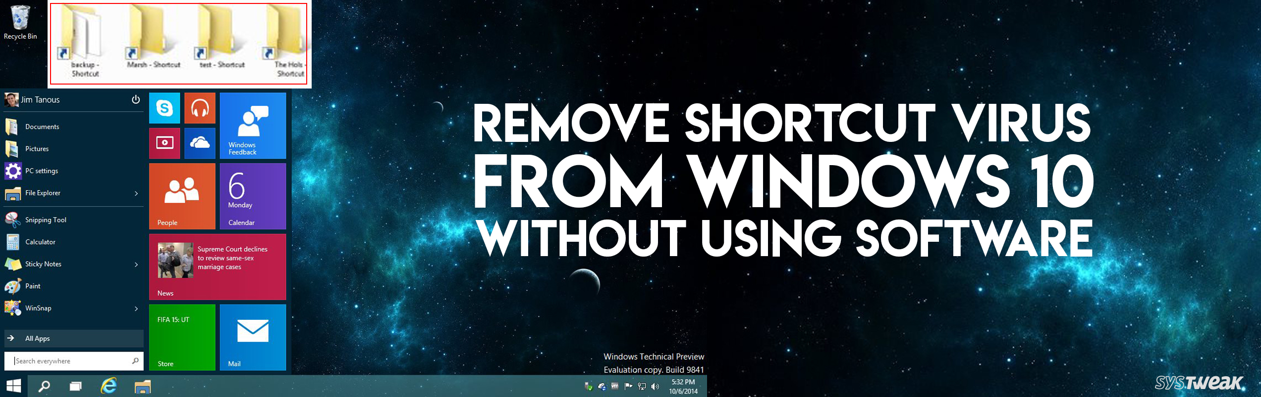 How To Get Rid Of Shortcut Virus From Windows 10