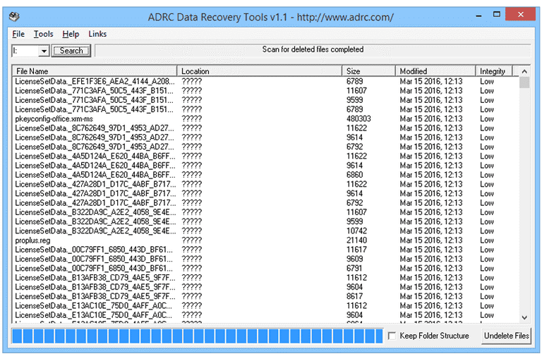 ADRC Recovery Tool