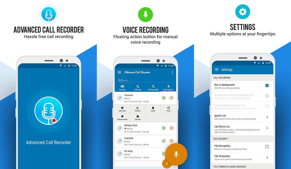 advanced call recorder app for android