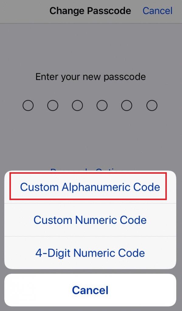 custom alphanumeric code