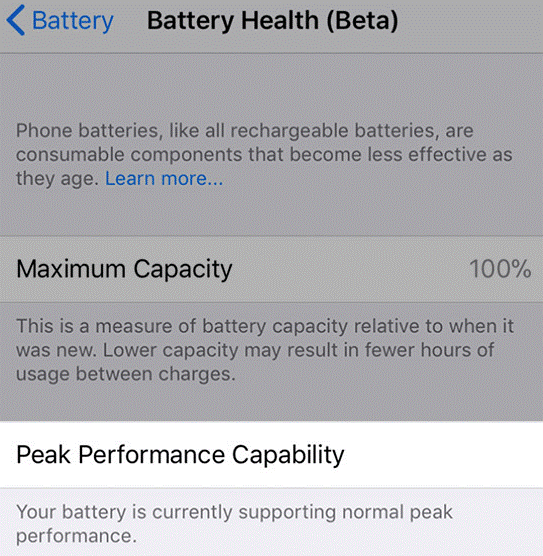 battery health beta