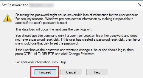 set password for user