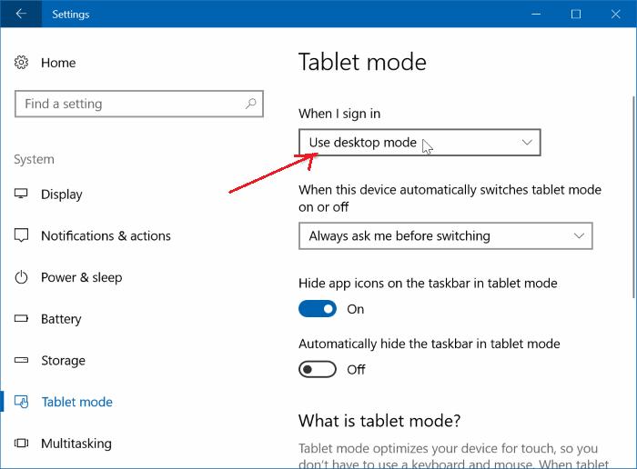 turn off tablet mode 3