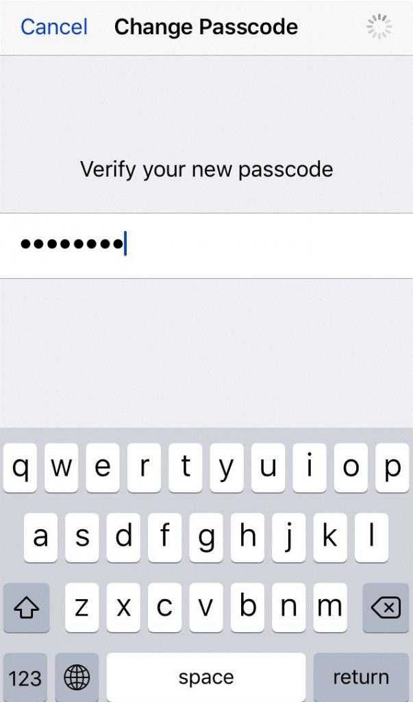 verify passcode