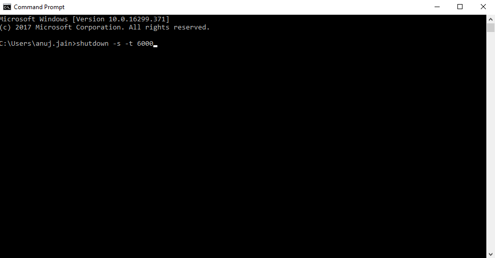 Auto Shutdown Timer via Command Prompt step-2