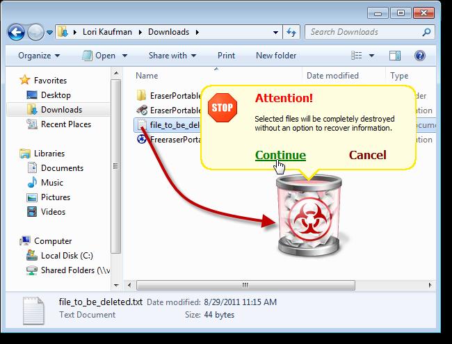 Freeraser- file eraser