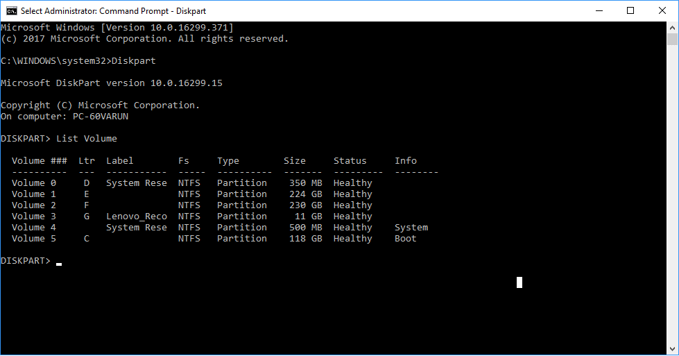 Hide Drive Using Command Prompt3