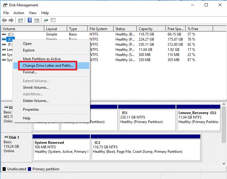 Hide Drive Using Disk Management Tool 3