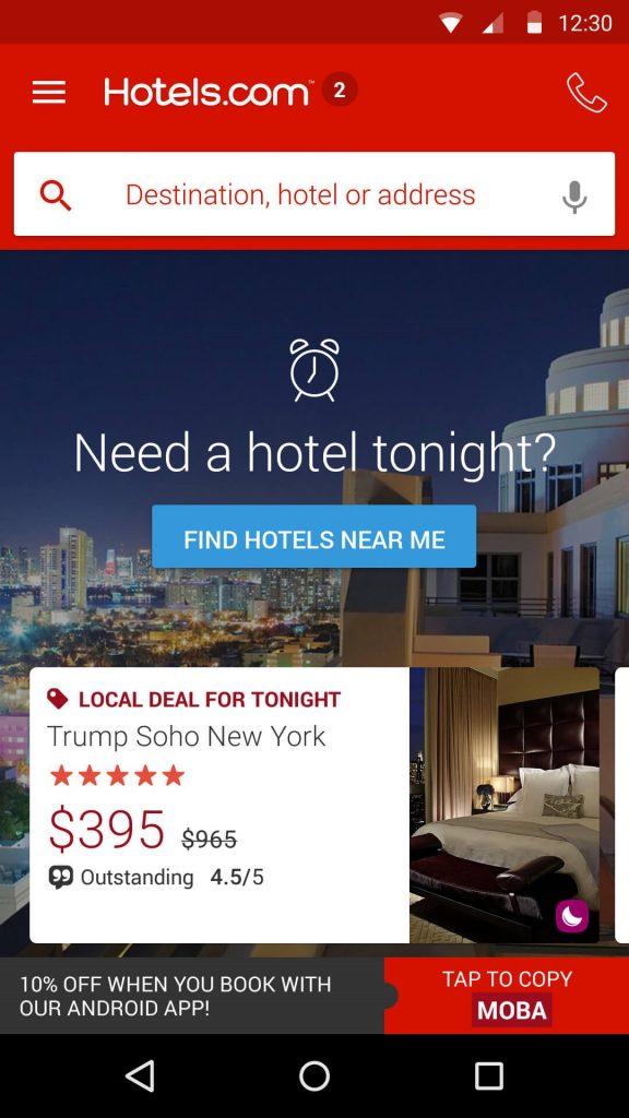 Hotels.com Hotel Reservation