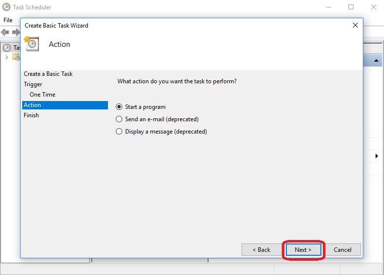 Make a Basic Task Named Shutdown step-7