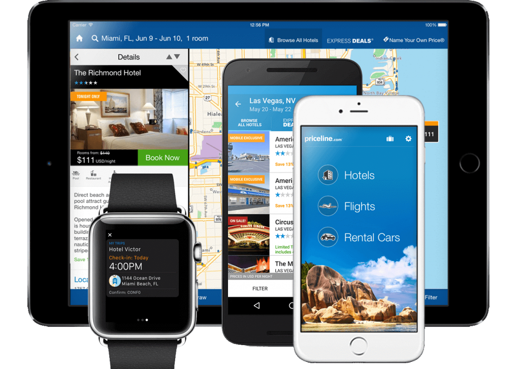 Download the free priceline app and get access to our exclusive mobile-only deals! Available for iOS and Android devices. Save big on hotels, flights, and rental cars with the priceline app.