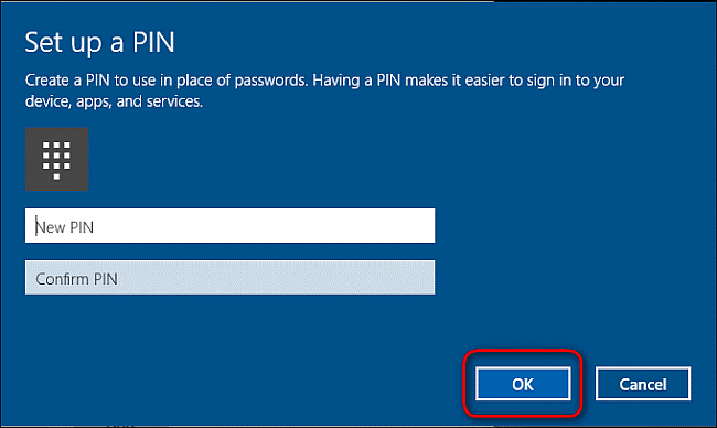 Protect Your Machine With A PIN Login