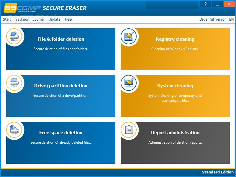 Secure Eraser- data shredder software