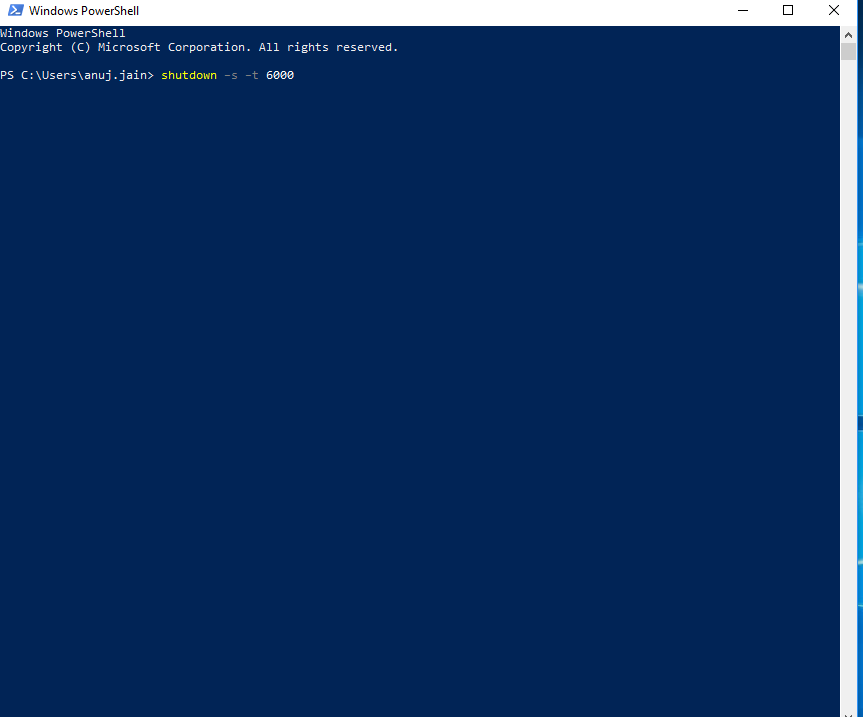Shutdown Timer in Windows PowerShell-3