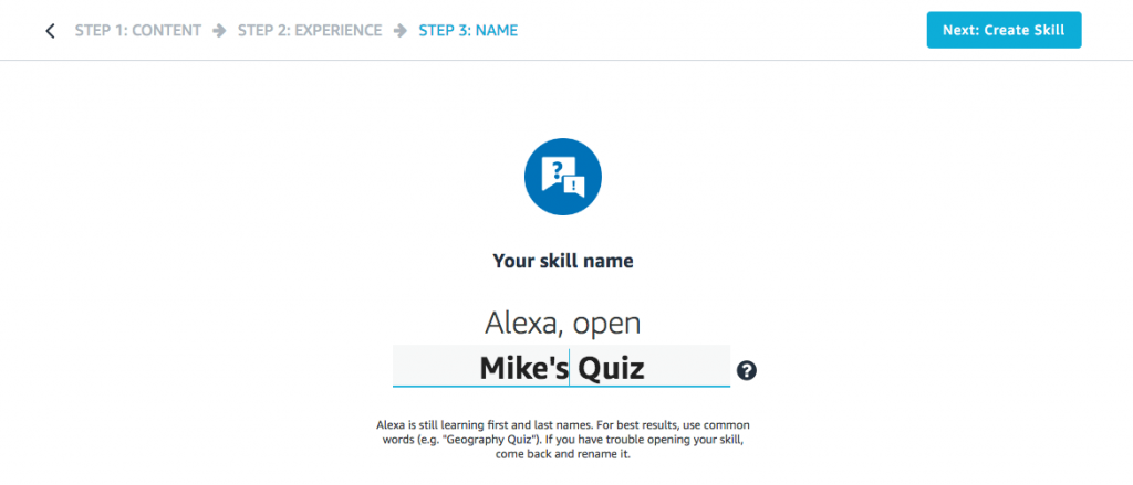 Steps to Create Alexa Skills of Your Own-8