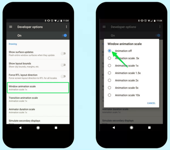 Ways to Boost Your Android Phone's Performance for disable animation - 3