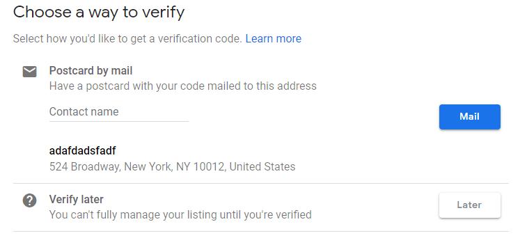 choose a way to verify