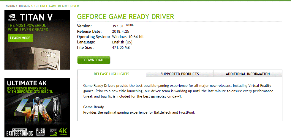 geforce game ready driver