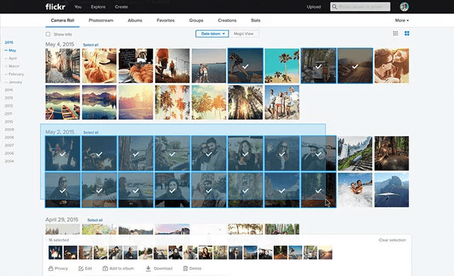 how to downnload photos from flickr