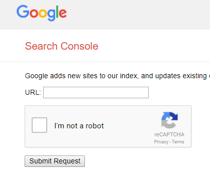 submit your website url