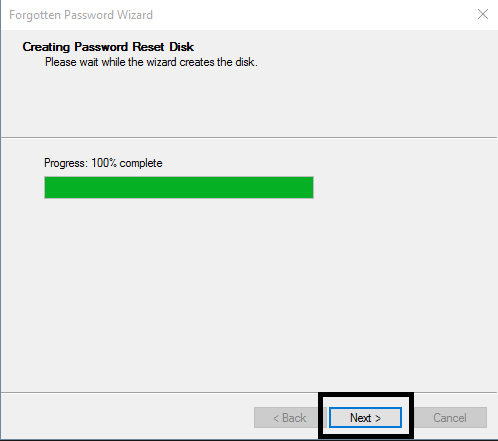 Create a Password Reset Disk-5
