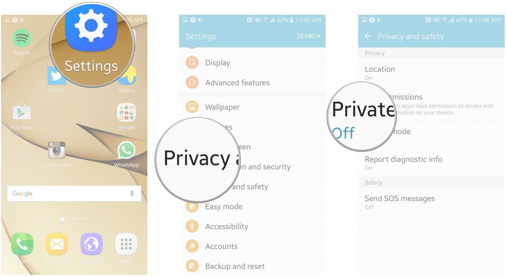 Enable Privacy Mode to Hide your Personal Data 3