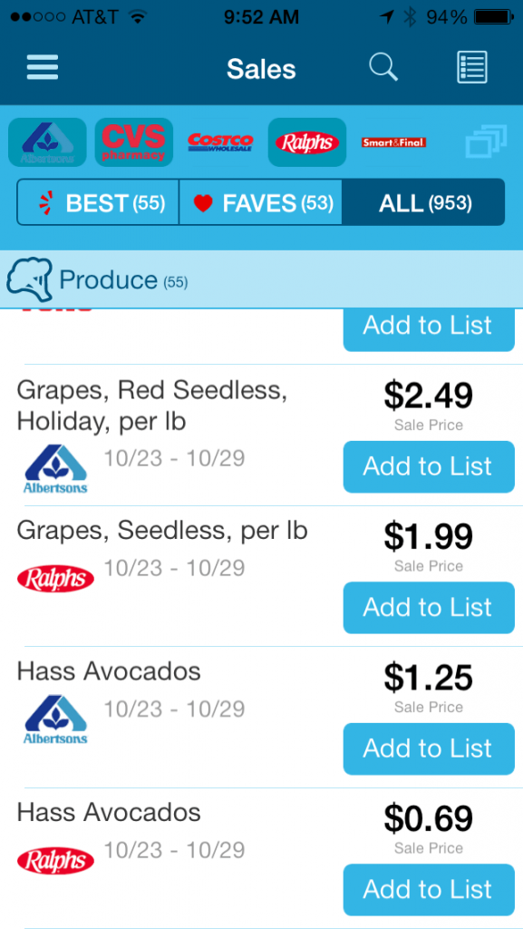 Favado- best grocery apps