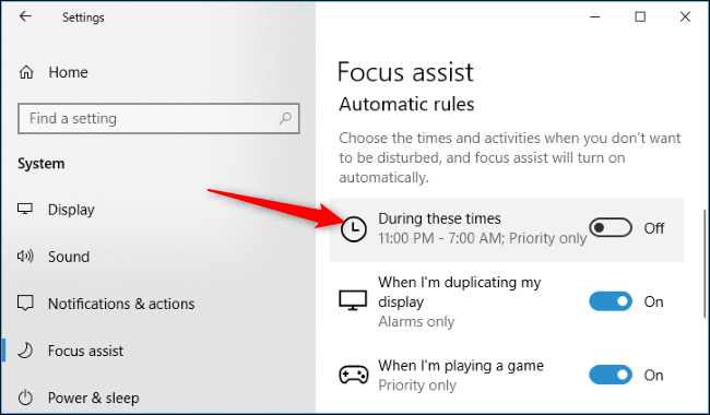 How to Set Schedules on Focus Assist