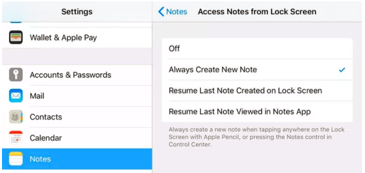 Jot Down Notes without Unlocking Your iPad
