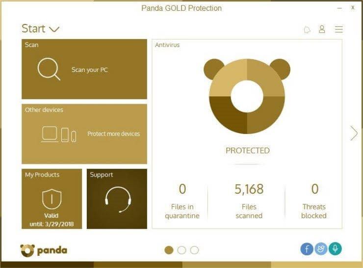 Panda Gold Protection software