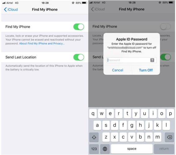 Turn Off Find My iPhone on iPhone and iPad 3