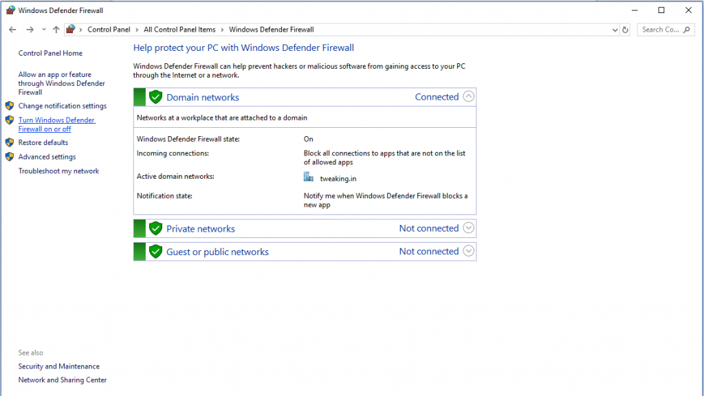 Turn Off Firewall & Windows Defender 3