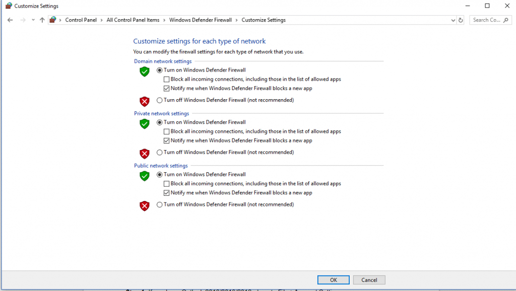 Turn Off Firewall & Windows Defender 4