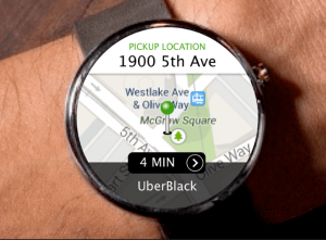 Uber- android wear app