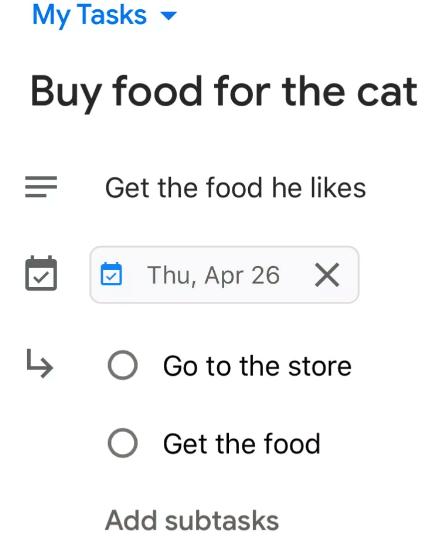 Use Google Tasks on Your Smartphone5
