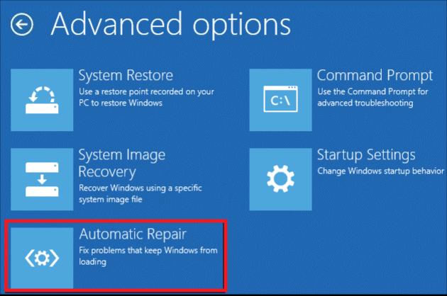automatic repair windows 10