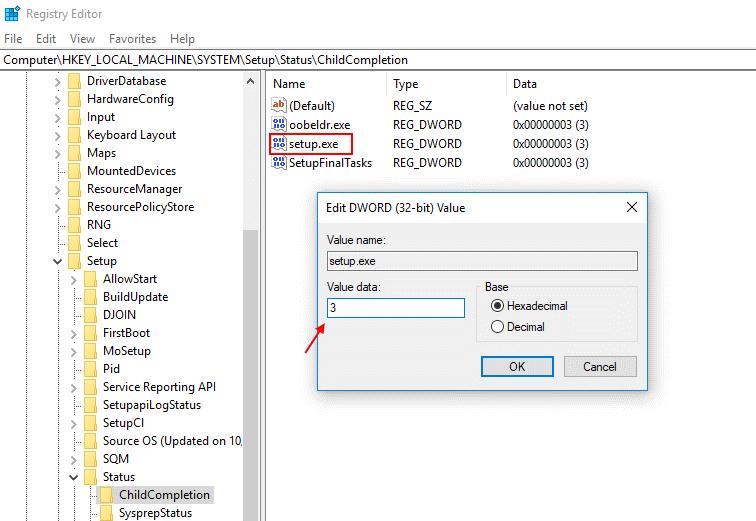 change registry value