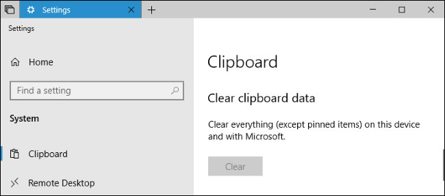 get rid of clipboard windows 10 history