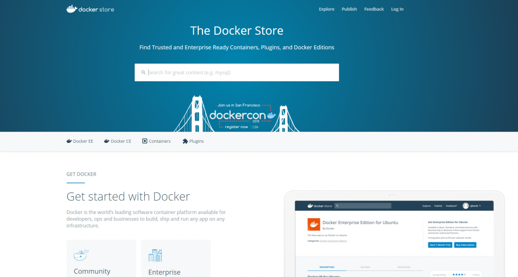 get started with docker