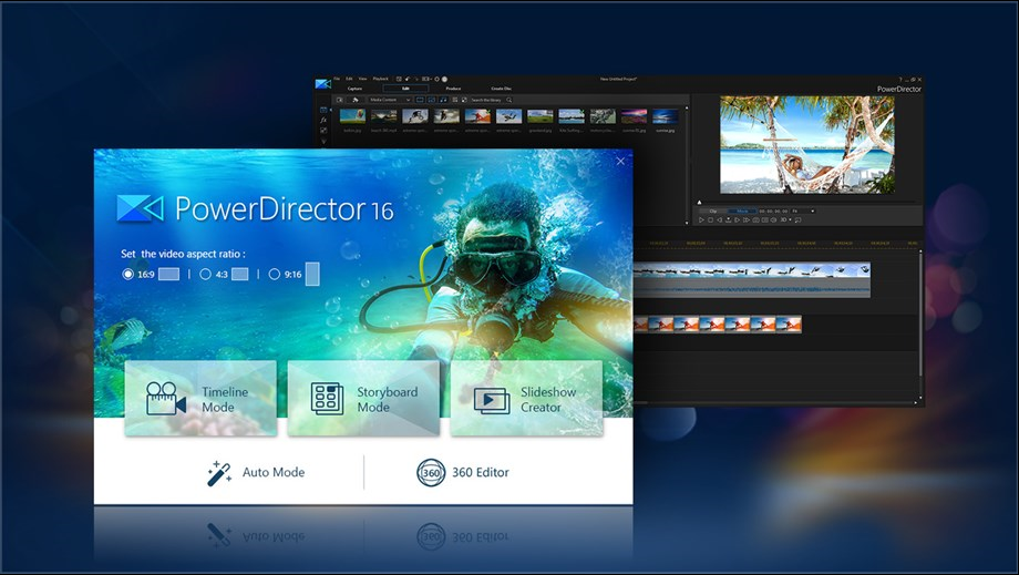 power director 16 windows 10 apps