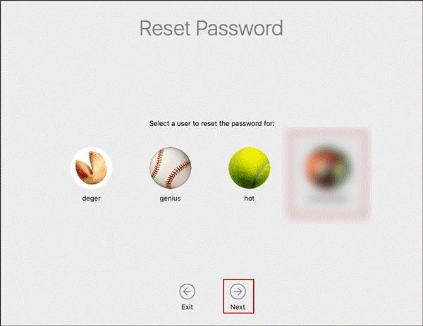 Reset Password Utility
