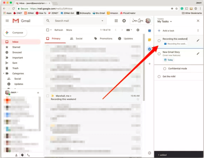 use Tasks in Gmail